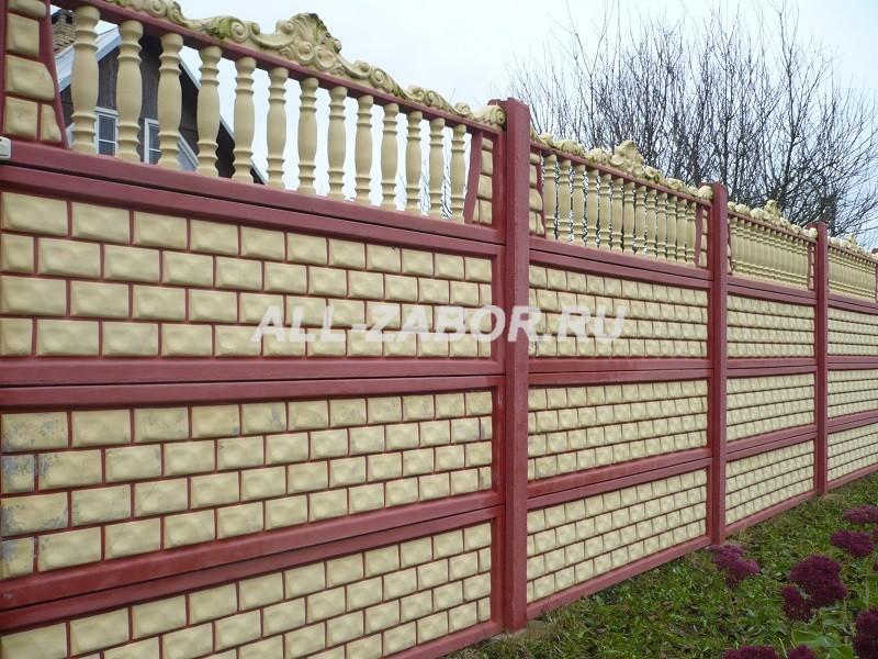 купить забор из бетона в казани